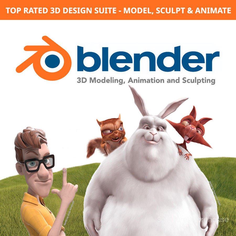 Blender Windows Mac 3D Design Suite