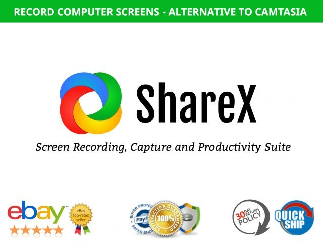 ShareX Windows Screen Recorder and Productivity Tool